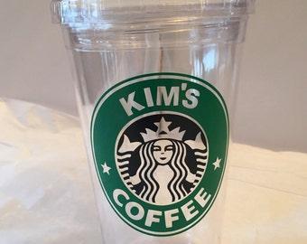 "Personalized ""Starbucks"" Tumbler"