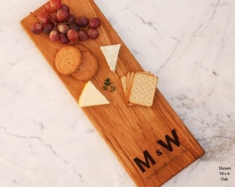 Customized Cheese Board Personalized Initials Monogram Couple Present Bridal Shower Gift For Her Best Friend Engagement Corporate Gift Ideas