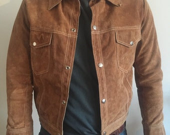 Vintage 60's style suede jacket, sz S.
