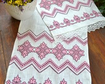 Ukrainian Traditional Embroidered Rushnyk For Wedding Ceremony Or Home