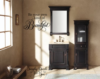 Bathroom Decal Etsy - Wall decals bathroom