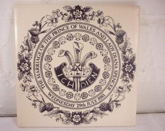 LIMITED EDITION: Charles & Diana Royal Wedding Commemorative Ceramic Tile