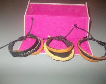 leather bracelet-handmade