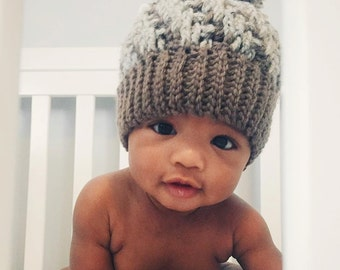 Stepping Texture Hat (Baby/Child's Unisex Crochet Beanie)