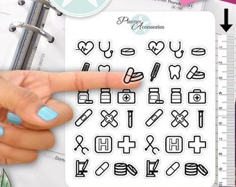 Clear Doctor Stickers Medical Stickers Nurse Stickers Planner Stickers Erin Condren Functional Stickers Decorative Stickers NR398