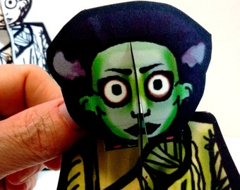 Bride of Frankenstein Monster Paper Doll Set - Printable Toy