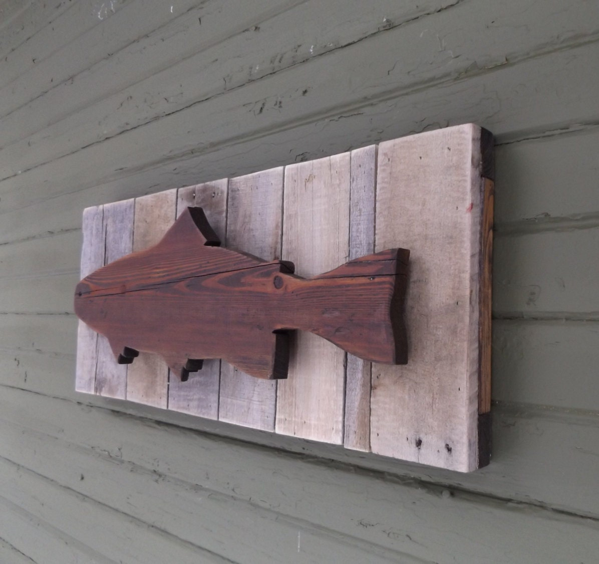 Fish Decor For Walls trout decor. fish wall decor. fish decor. rustic fish decor.