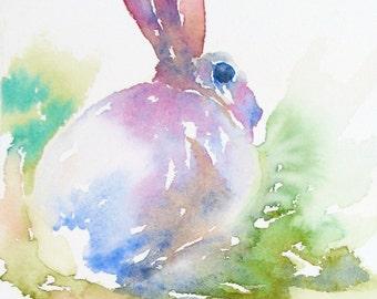 Thoughtful Bunny original watercolor