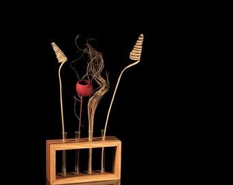 Test tube vase, standing