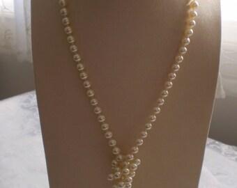 """Vintage 18"""" Trifari Faux Pearl Necklace"""