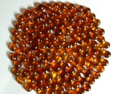 """Baltic amber round cabochons cabs cognac orange yellow clear translucent 6mm (15/64"""") sun spangle lily pad shaped inclusion, inlay materials"""