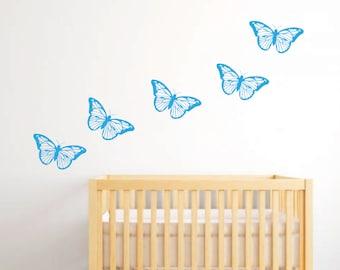 butterfly wall decal - Butterfly Decal - Butterfly Wall Art - Butterflies - Butterfly - Butterfly Nursery Decal - Butterfly Wall Stickers