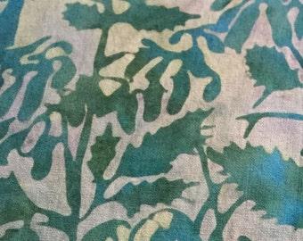 BATIKS, BATIKS, BATIKS...Island Batik, turquoise, twigs