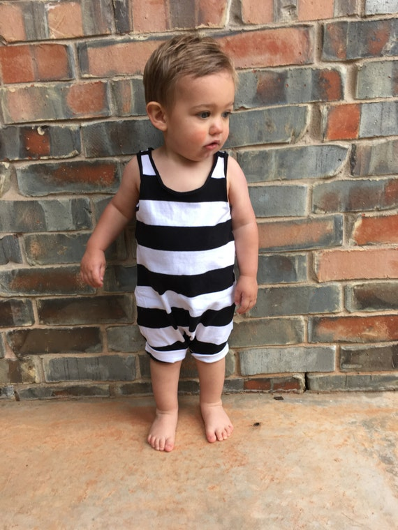 Baby boy romper Hipster baby clothes Black by JumpingJacksCo