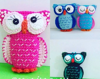 Amigurumi Pattern PDF Colorful Owl