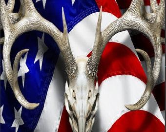 American Deer Oblit Buck Camo LAMINATED Cornhole Wrap Bag Toss Decal Baggo Skin Sticker Wraps