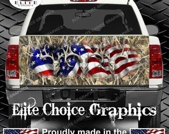 American Buck Tallgrass Truck Tailgate Wrap Vinyl Graphic Decal Sticker Wrap