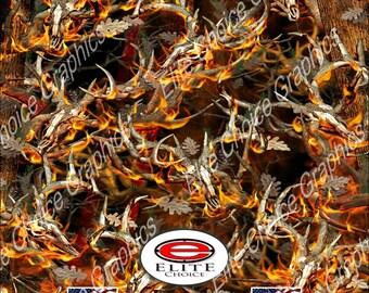 "Obliteration Tree Blaze Buck Deer 15""x52"" or 24""x52"" Truck/Pattern Print Tree Real Camouflage Sticker Roll or Sheet"