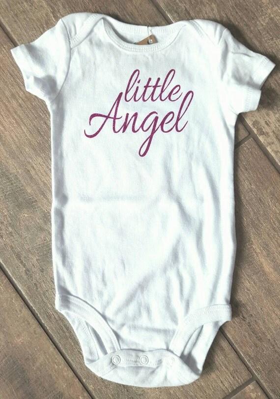 Little Angel - baby girl onesie - baby accessories - size 9 months