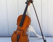 Vintage Stradivarius Violin Copy, Full Size, Antique Violin, Musical Instrument, Made In Germany, Violin Case, Violin Bow