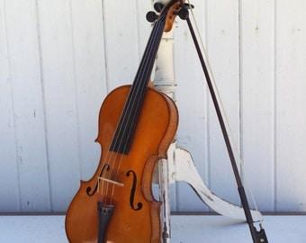 Vintage Stradivarius Violin Copy, Full Size, Antique Violin, Musical Instrument, Made In Germany, Violin Case, Violin Bow
