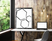 Black Geometric Wall Art ...