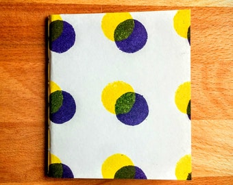 Book violet yellow peas