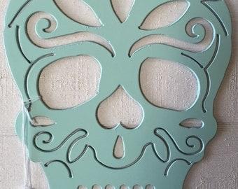 Day of the Dead Sugar Skull Metal Wall Art