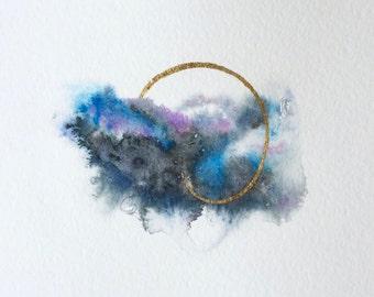 "5x7 Original Watercolor Painting ""Stellar Parallax"""