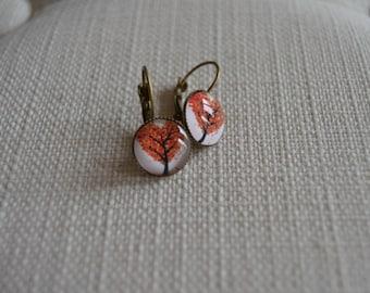 Fantasy in cabochons earrings