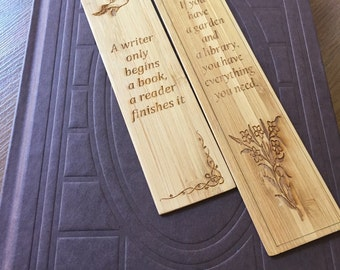 Personalised Bookmarks made from Bamboo Slip 1 Pcs