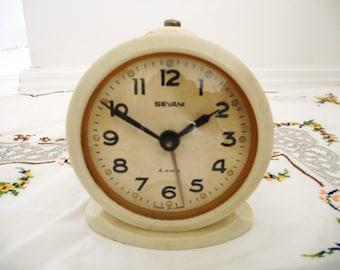 Soviet alarm clock,70s office decor, Russia, USRR SEVANI, CCCP Communist Soviet