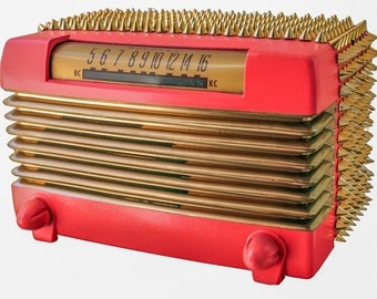"""Vintage Retro 1949 Wards Airline 94BR-1525 Tube Radio """"Chinese New Year"""" by JQ"""