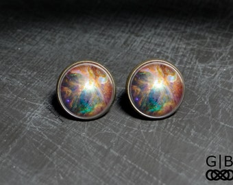 Cosmic Studs Earrings Cosmic Nebula Studs - Cosmic Star Studs Cosmic Jewelry - Cosmic Star Jewelry Earrings - Cosmic Studs Earrings Jewelry