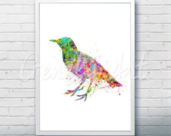 Bird Watercolor Art Print  - Watercolor Painting -  Bird Watercolor Art Painting - Bird Poster - Home Decor - House Warming Gift [1]