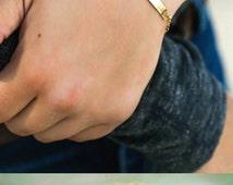 SALE - Personalized Gold Name Bracelet Date Bracelet - Sterling Silver or Gold Bar Bracelet - Curved Bar - Anniversary Gift - Sympathy