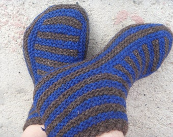 Knitting patterns Knit slipper pattern Knitted slippers Knit sliper sock Slipper sock pattern Instant download PDF knitting Slippers pattern