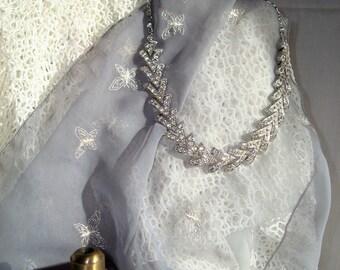 "Stunning Sarah Coventry Rhinestone ""Parisienne Nights"" Necklace."