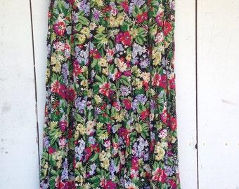 Grunge skirt, grunge floral skirt, long floral skirt, 90s midi skirt, 90s boho skirt, floral 90s skirt, floral midi skirt, long boho skirt