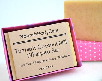 Herbal Soap, Unscented Soap, Vegan Soap, Turmeric Soap, Organic Soap, Cold Process Soap, Palm Free Soap, No Palm Soap, Fragrance Free Soap