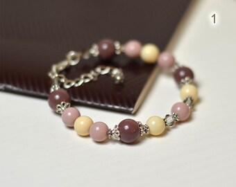 Womens bracelets | Beaded bracelets | Gift for her | Bead bracelets | Rose brown Bracelet for her