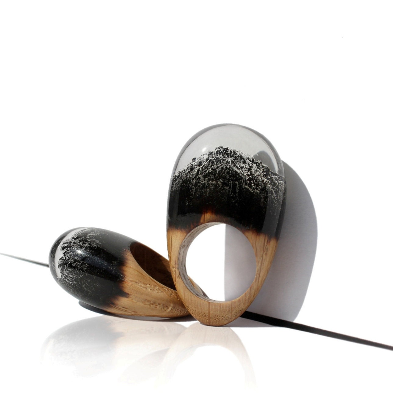 Resin Wood Ring Epoxy Resin Wood Resin Jewelry Wooden Ring