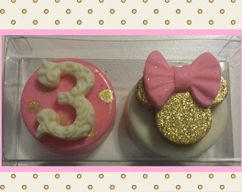Minnie Mouse Gold & Pink Oreo Set