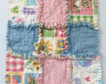Baby Lovie Security Blanket / Lovie Blanket / Baby Snuggle Blanket / Comfort Blanket / Lovies / Baby Shower Gift