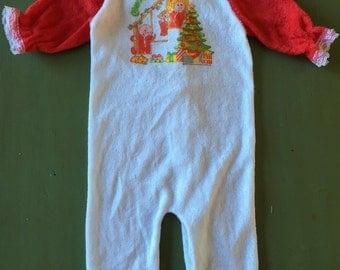 Baby Girl Newborn Pajamas 1980s Cabbage Patch Kids Christmas