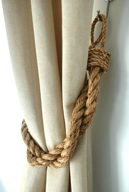 Rustic Manila Rope Curtain Tiebacks Shabby By