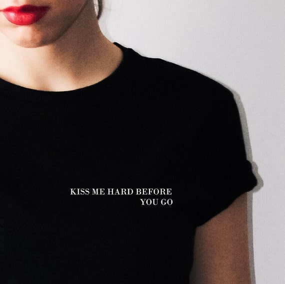 DASKco - TUMBLR T-SHIRT, kiss me black white t-shirt internet ...