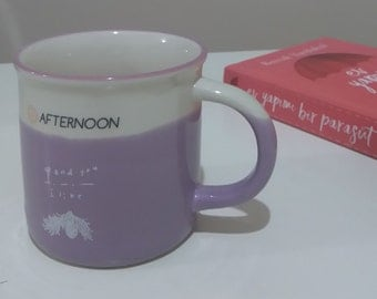 1  coffee cup made of porcelain (lilac)