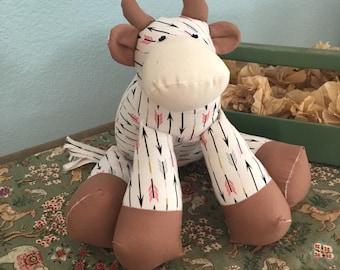 Stuffed Cow; Made to Order; stuffed animal, cow stuffed animal, toy cow, decorative cow, cow stuffed toy, cow plushy, farm animal, animals
