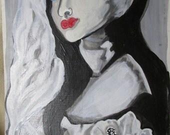 Barista. An original painting